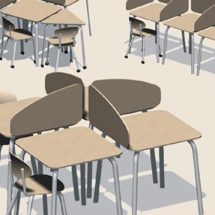 Meubellijn primair onderwijs binnenbuiten for Meubilair primair onderwijs